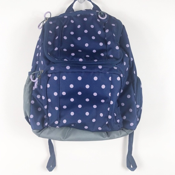 bce5748cecd3 The results of the research navy and white polka dot backpack